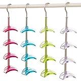 Louise Maelys Rotating Handbag Hanger Rack Closet Organizer for Bag Ties Belt Scarf 4 Hooks Fuchsia