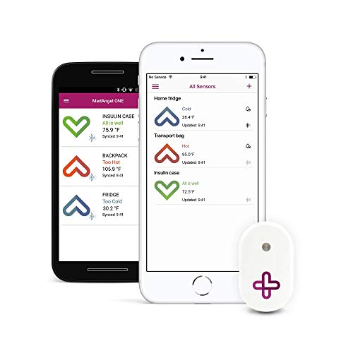 MedAngel ONE - Smart Temperature Sensor for Medication (Best Setting For Ac Thermostat)