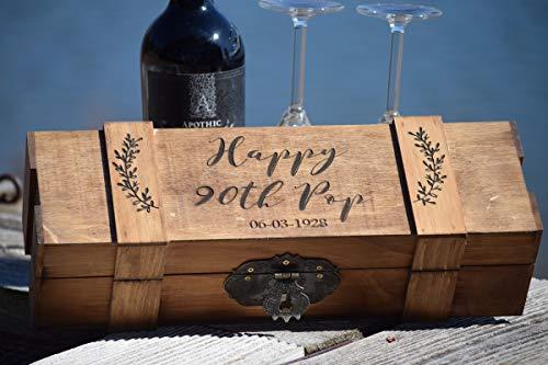 - Lockable Wine Box - Wedding Wine Box - Locking Wine Box - Personalized Engraved Wine Box - Time Capsule - Birthday Wine Box - Retirement Gift