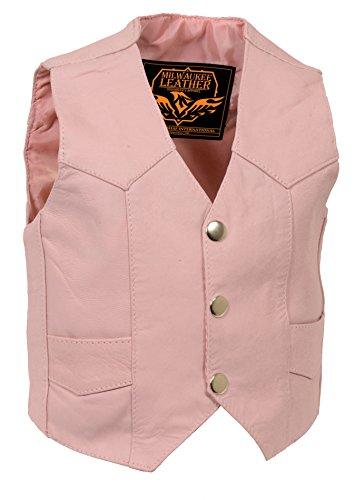 - Milwaukee Leather Kids Plain Vest (Pink, Small)