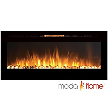 """MFE5048WS 50"""" Cynergy Built-In Wall Mounted Electric Fireplace - Pebble Stone"""