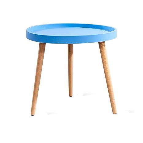 Amazon.com: HPLL Mesa auxiliar de madera, pequeña mesa ...