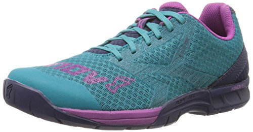 Inov-8 Women's F-Lite 250 Fitness Shoe, Teal/Navy/Purple, 7 B US