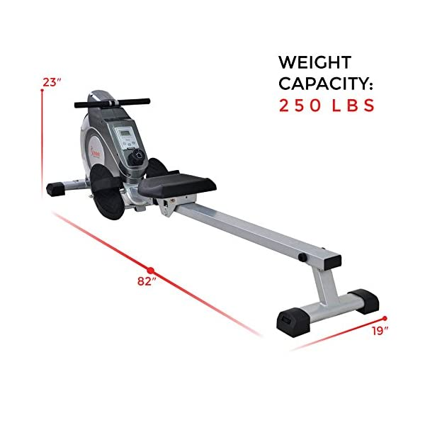 Sunny Health /& Fitness SF-RW5515 Magnetic Rowing Machine Rower w//LCD Monitor