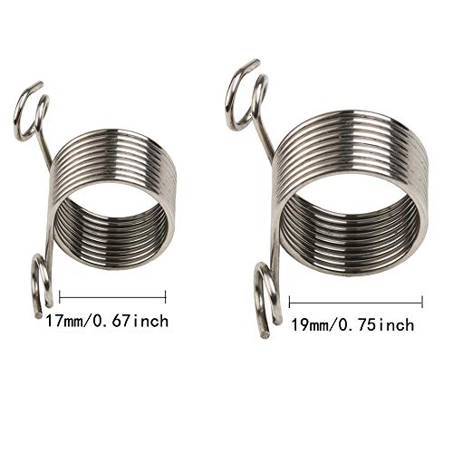 Benbo Metal Yarn Guide Knitting Thimble, 2 Sizes Knitting Thimble Stainless Steel Thimble Finger Ring for Knitting Crafts Accessories Tool