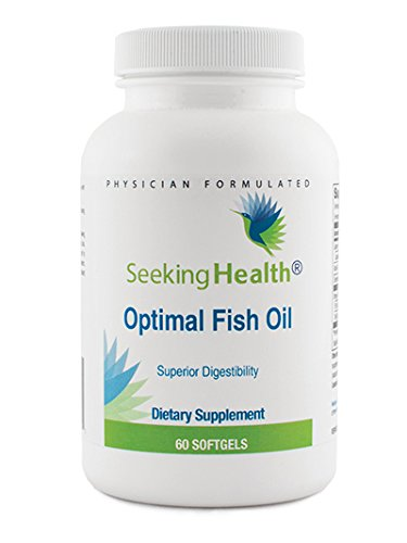 Optimal Fish Oil | Burp Free, Natural Lemon Flavor | Provides 1400 mg EPA/DHA With Lipase | 60 Easy-To-Swallow Softgels | Seeking Health