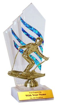 Flames Downhill Skiing Trophies