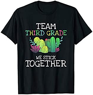 Team Third Grade Cactus Tee  Back To School  Gif T-shirt | Size S - 5XL