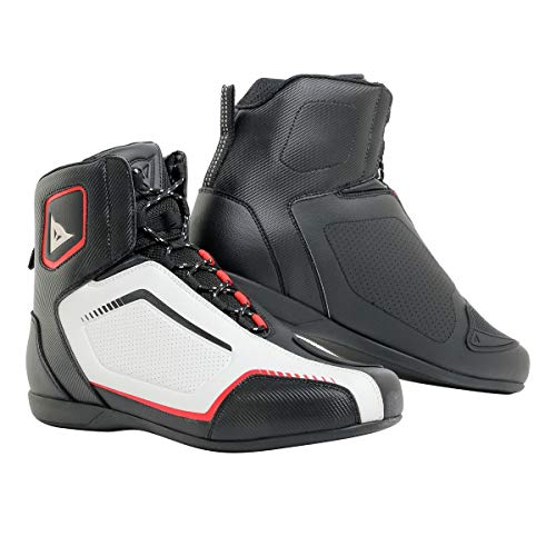 (Dainese Raptor Air Shoes (42) (Black/White/Lava RED))