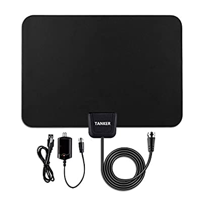 TV Antenna-50 Mile Range with Detachable Amplifier, HDTV Indoor Antenna for High Reception Homeworx Antenna for TV - 10ft Coaxial Cable