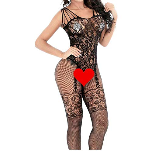 PZCXBFH Womens Fishnet Tights Suspender Pantyhose, Black, Size One Size