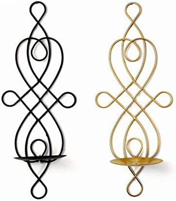 Black JUNGEN Candle Holder Creative Simple Style Hanging Candle Stick Candelabrum Holder Stand/Party Dining Table Centrepiece Home Wall Decoration