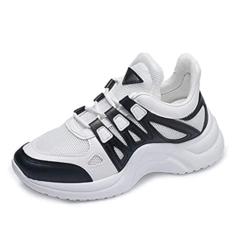 67f7b3e589ef2 Amazon.com: HuWang Fashion Women Sneakers Vulcanize Shoes Trainers ...