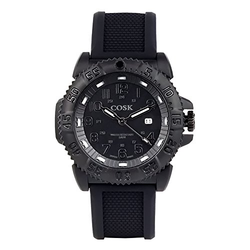 COSK Black Waterproof Evo Navy Seal Blackout Mens Sport Watch 3051. Army Watches