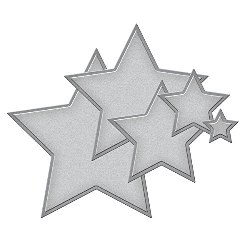 Spellbinders S4-092 Nestabilities Stars Five Etched/Wafer Thin Dies