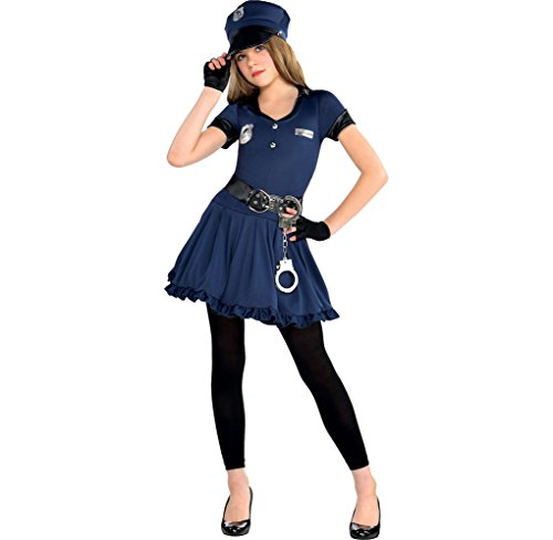 Amscan Cutie Cop Halloween Costume for Girls, Large,