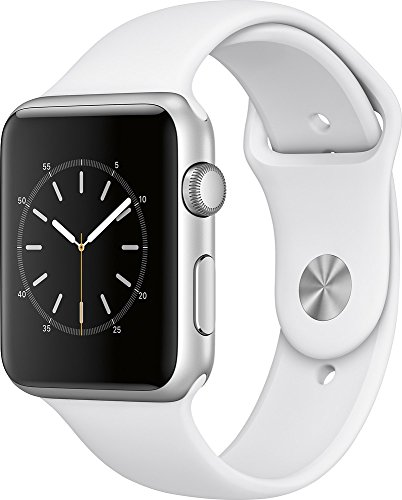 New Apple Watch Series 1 42mm Smartwatch (Silver Aluminum Case, White Sport Band)