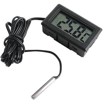 Termómetro digital para Acuario con pantalla LCD Terrario: Amazon.es: Electrónica