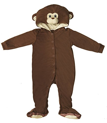 Etsy Halloween Costumes Baby (Brown Monkey Baby Polyester Knit Halloween Costume, Size 6-9mth)