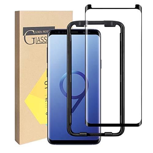 引数本を読む倉庫Galaxy S9 Plus ガラスフィルム Koolpod ギャラクシーs9 液晶保護フィルム ガイド枠付き ケース干渉せず 旭硝子製 衝撃吸収 / 硬度9H / 気泡ゼロ/全面密着/指紋防止 / 透過率99.8% / 3D加工 (Galaxy S9 plus)