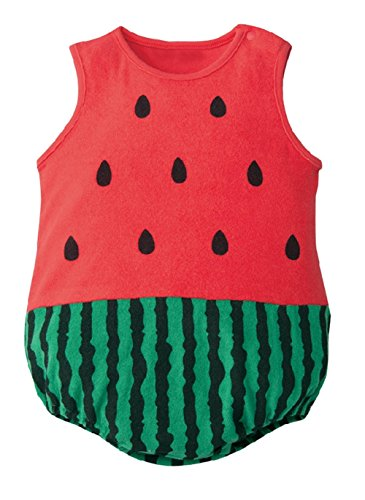 stylesilove Baby Unisex Lovely Costume Jumpsuit - 6 Design (80/6-12 Months, Watermelon)