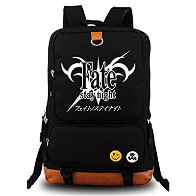 1a40fe812a Gumstyle Anime Fate Stay Night Fate Zero Luminous Large Capacity School Bag  Cosplay Backpack Black and