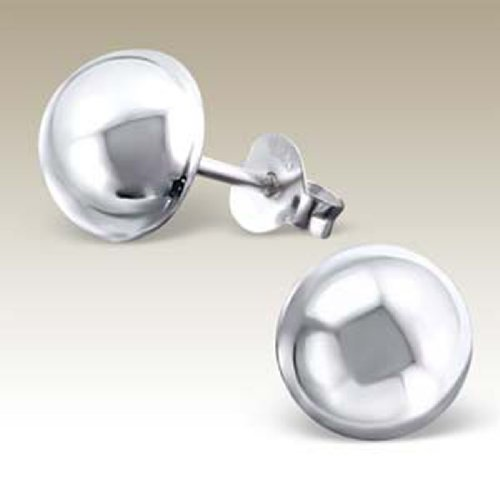 rings, Stering Silver 925 (E16505) (Dome Silver Earrings)