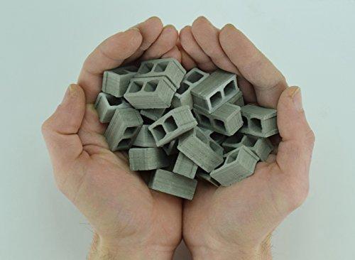 1/12 Scale Mini Cinder Blocks (24 Pack) Premium Quality – Handmade in USA. Miniature Concrete Bricks. Cool Gadgets or Gag Gift for Men, Teens, Your - Block Cinder Miniature