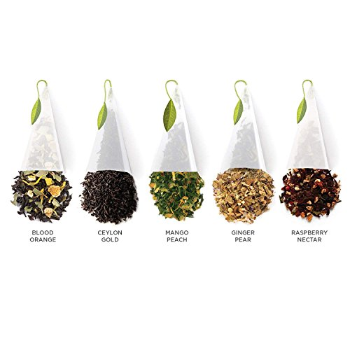 Tea Forte TEA OVER ICE Steeping Tea Pitcher Set and Iced Tea Infuser Sampler Box with 5 Different Tea Blends by Tea Forte (Image #3)