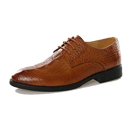 Primavera Fashion Pelle in Uomo Casual Style Brown British Scarpe Indossabile Pointed Traspirante da USnrUw6qEx