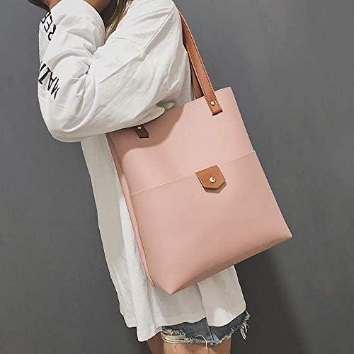Shoulder Bags Borsello in 2 in 1 in Pelle Borsa dell'unità di Elaborazione del Sacchetto del messaggero Sing-Borsa a Spalla for Le Ragazze (Nero) (Colore : Bianca) Rosa