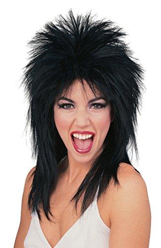 Adult Punk Rock (50723/69 Black Super Star Punk Rock Rocker 80's Wig)