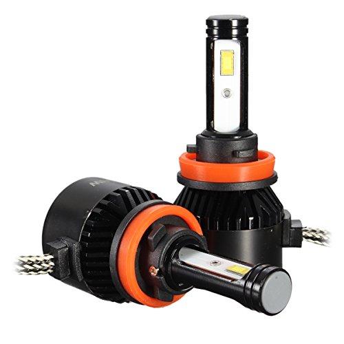 AUDEW LED Headlight Fog Light Bulb Lamp Xenon White 2pcs 8000LM 6000K H7 …