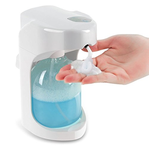 Foaming Automatic Soap Dispenser, Lantoo Hands free Automatic Foam Soap Dispenser for Bathroom & Kitchen, 16oz Capacity, Adjustable Foam Control, Wall Mounted/On Countertop