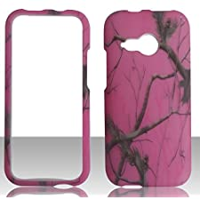 Pink Camouflage Woods Design Autumn Camo Tree Camo Camoflauge Htc One M8 Mini (Htc One+ Mini, HTC One Mini Remix, HTC ONE 2 Mini) Slim Hard Shell Cover Case, 2014 Version Hard Case Snap on Cellphone Rubberized Plastic Cover