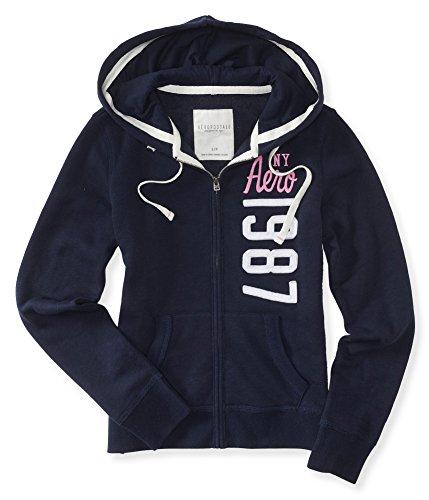 Aeropostale Womens Vertical Hoodie Sweatshirt