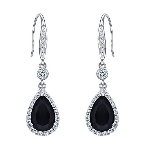 Black Crystal Ball Earrings - 5