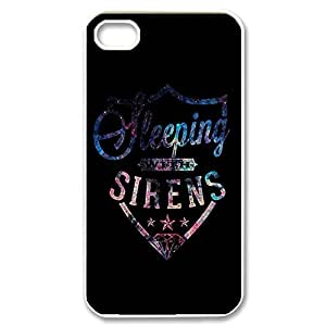 Amazing Painting Design with Sleeping With Sirens Thin & Strong TPU Shell Cover for iPhone 4 4s -White052801
