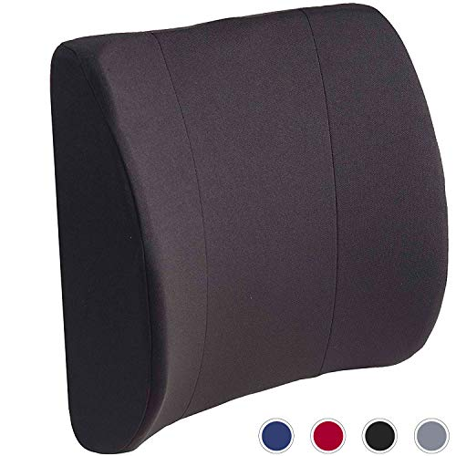 DMI Lumbar Support Pillow for Office or Kitchen Chair, Car Seat or Wheelchair comes with Removable...