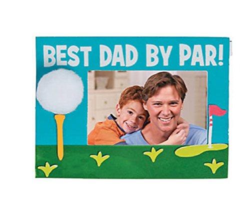 Best Dad By Par Picture Frame Magnet Craft Kit]()