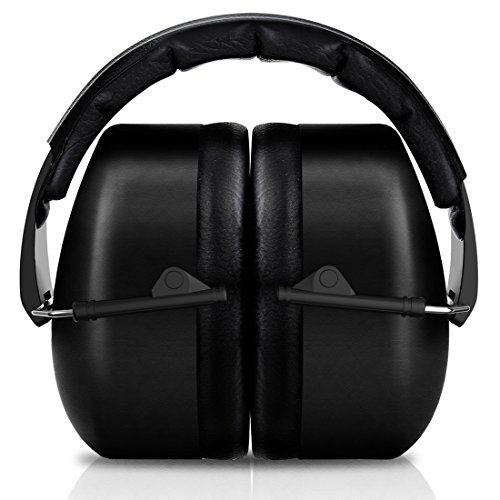 SilentSound 37 dB NRR Sound Technology Safety Ear Muffs with LRPu Foam for Shooting, Music & Yard Work, Black by SilentSound