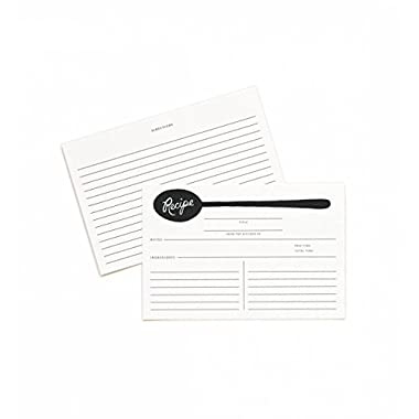 Rifle Paper Co. Lined Spoon 4  x 6  Recipe Cards -- Set of 12 Cards