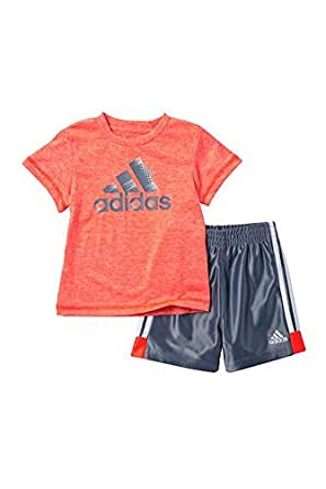 adidas United in Sport Short Set (Baby Boys) Bright Red Heather - 3 Months