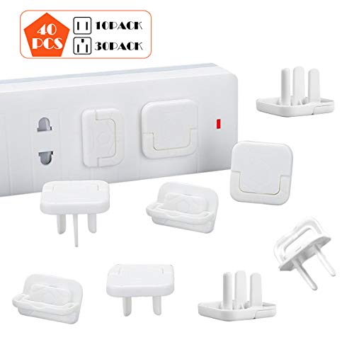 Baby Proofing Outlet Covers, Ztent 40 Pack Outlet Plugs with Hidden Pull Handle Child Proof Electrical Protector Keep Your Kids and Pets Away from Power Hazard