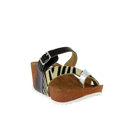 Mules Yaz Multicolore ELIZABETH Femme Multi STUART 872 Noir w15vxvU4qE