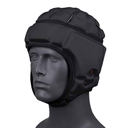(Gamebreaker PRO Powered by D3O Soft Shell Headgear - GBPRO-3-03 (Black, Large))