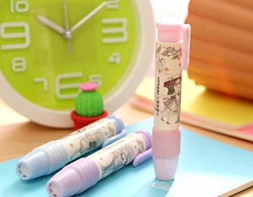 Genonaute Creative Lovely Pen Shape Hand Press Eraser Rubber by Genonaute (Image #6)