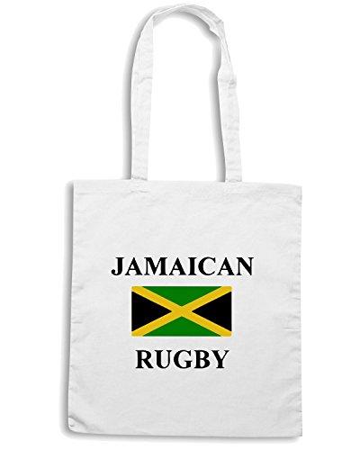 T-Shirtshock - Bolsa para la compra TRUG0033 jamacian rugby logo Blanco