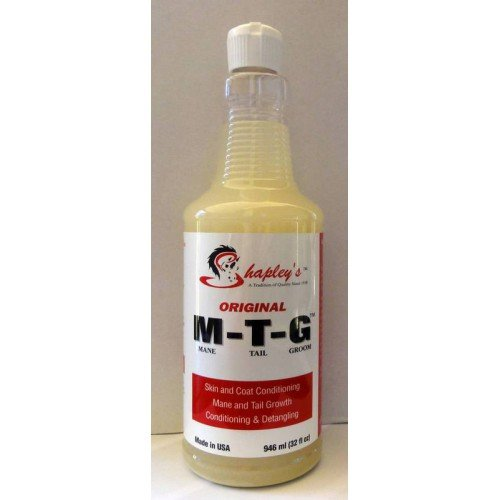 Shapley's Original M-T-G Skin Healing and Hair Growth Skin Treatment Mane and Tail Detangler (32 Ounce) by Shapley's