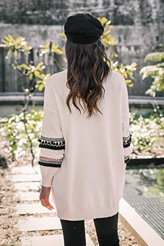 Manches Tops ASSKDAN Sweater Tunique Manteau Outerwear Femmes Blanc Blouson Chic Bohme Gilet Longue Cardigan tX0Cw4qr0